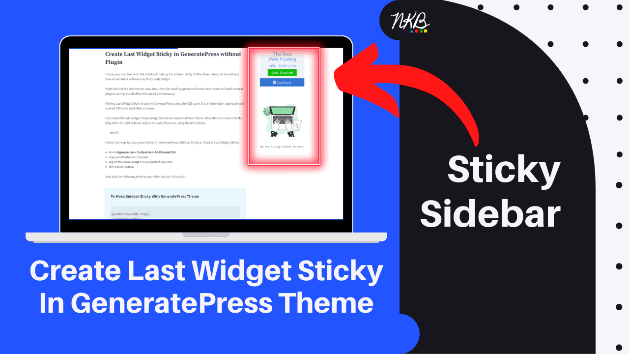 Sticky Sidebar in GeneratePress Theme